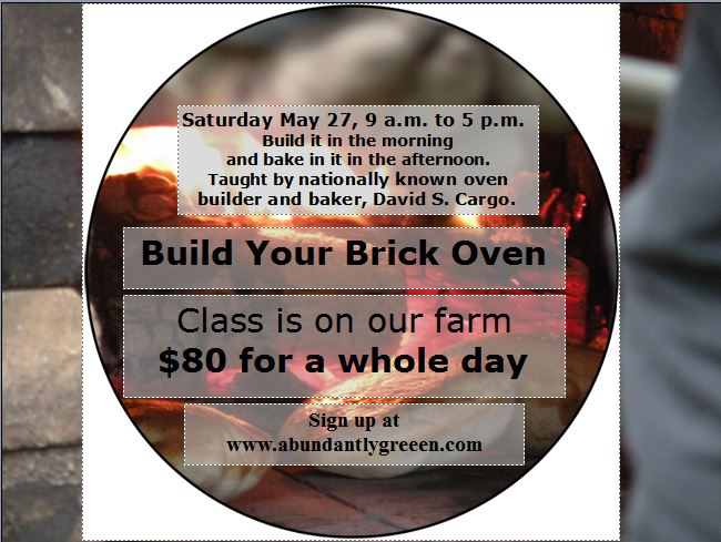 Information on brick oven class